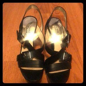 Michael Kors Black strappy sandals.  US Size 7.5